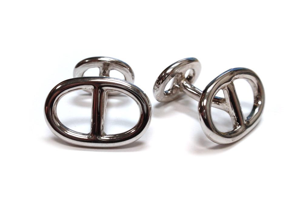Sterling silver handmade open style cufflinks