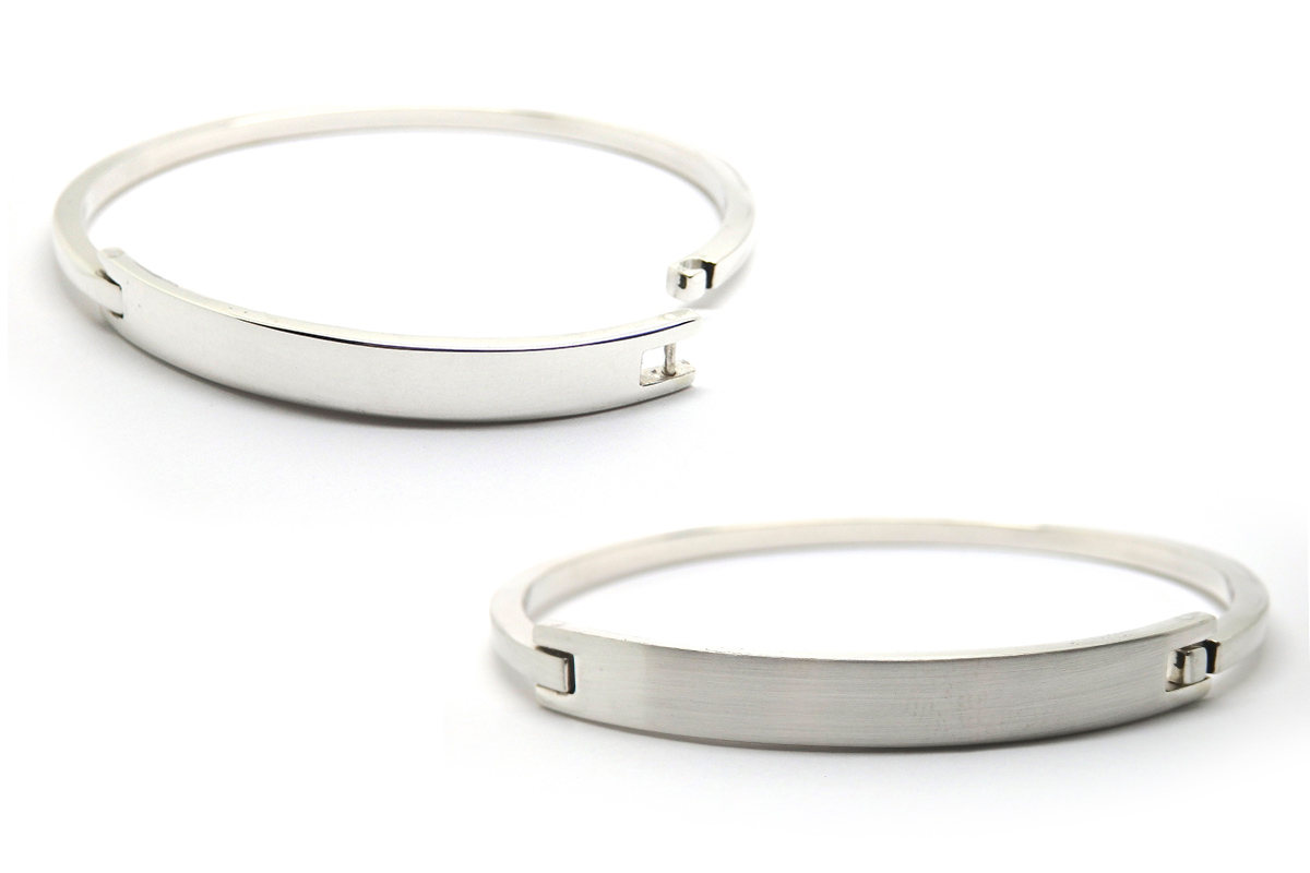 Opening sterling silver bangle